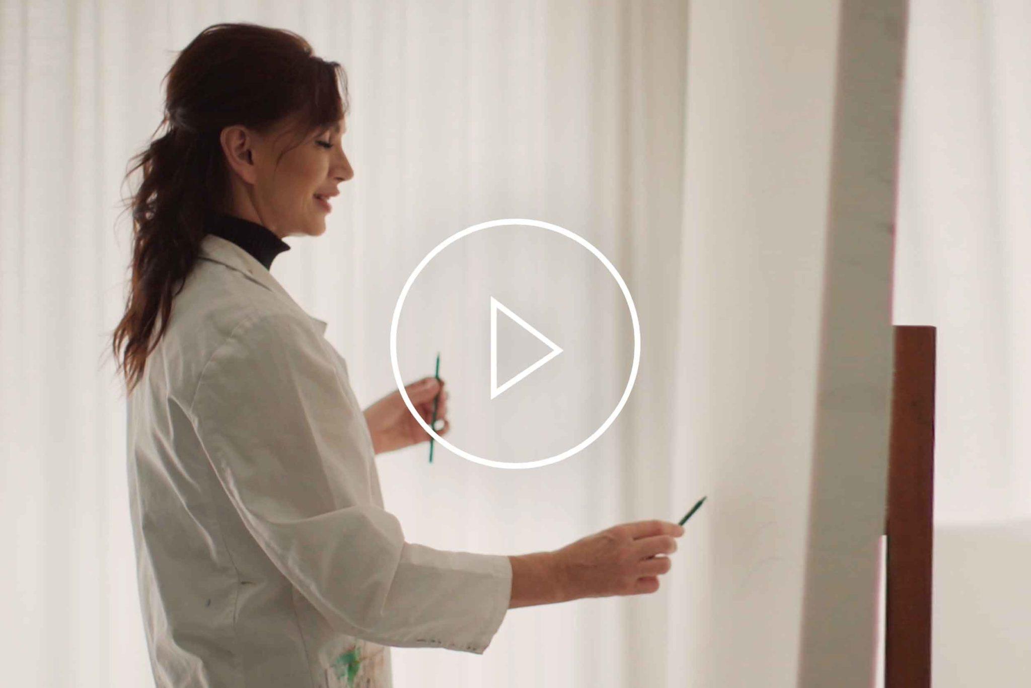 La Galleria Cornelia Hagmann Silk Scarves Story Movie 2020 Cornelia Painting, Seidenschal, sciarpa di seta, foulard soie,