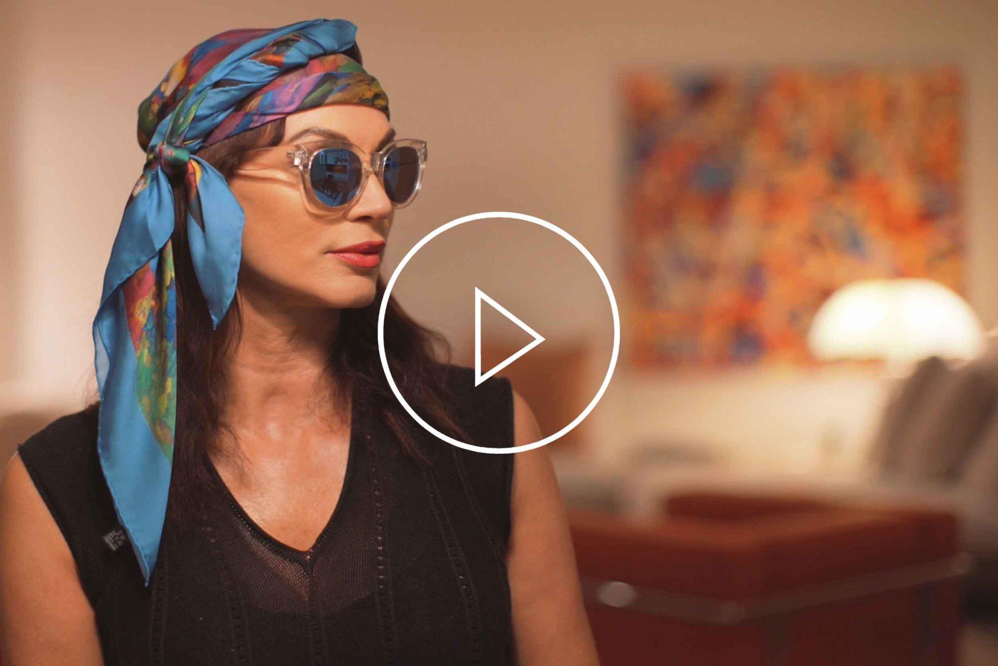 "La Galleria Contemporary Artist Cornelia Hagmann Silk Scarves Movie Vintage Style Head Scarf ""Brigitte"", Seidenschal, sciarpa di seta, foulard soie,"