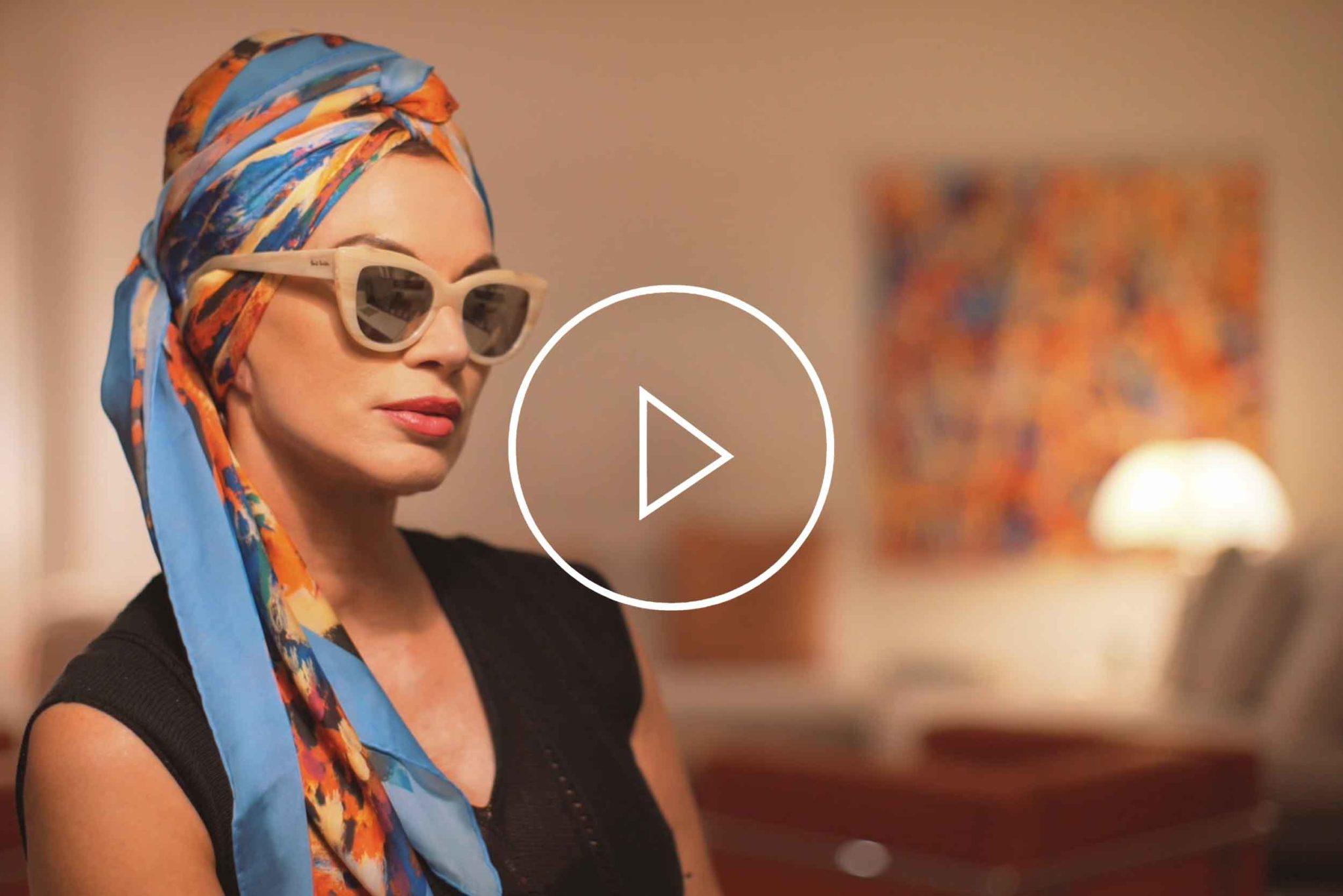 "La Galleria Contemporary Artist Cornelia Hagmann Silk Scarves Movie Vintage Style Head Scarf ""Gina"", Seidenschal, sciarpa di seta, foulard soie,"